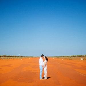 Newlyweds In Western Australian Desert