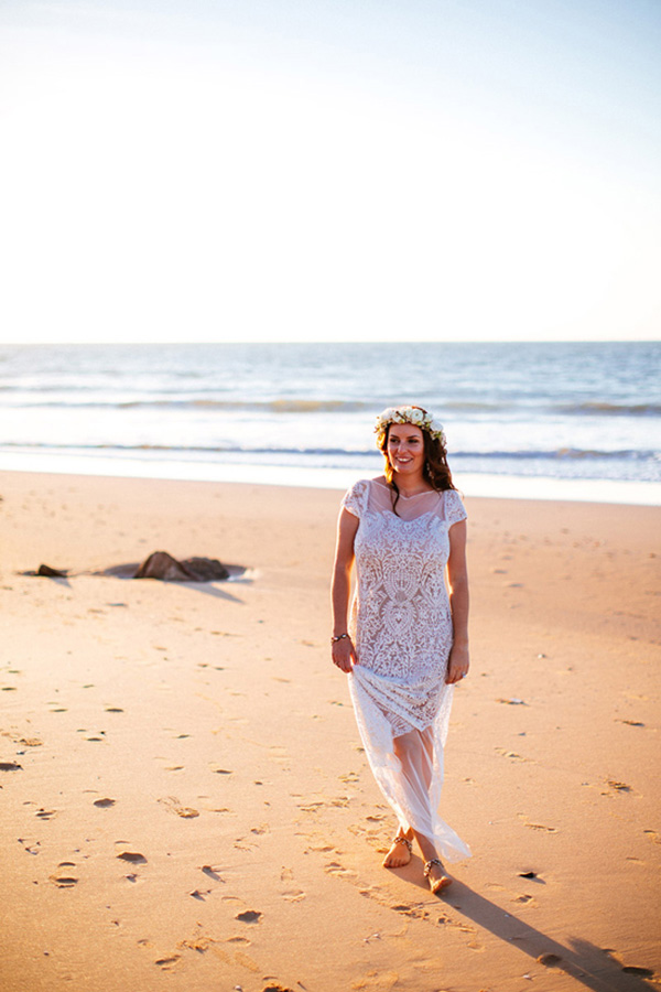 Bride On Beach In Broome