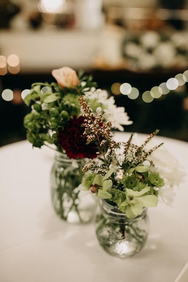 Elegant mason jar wedding centerpieces