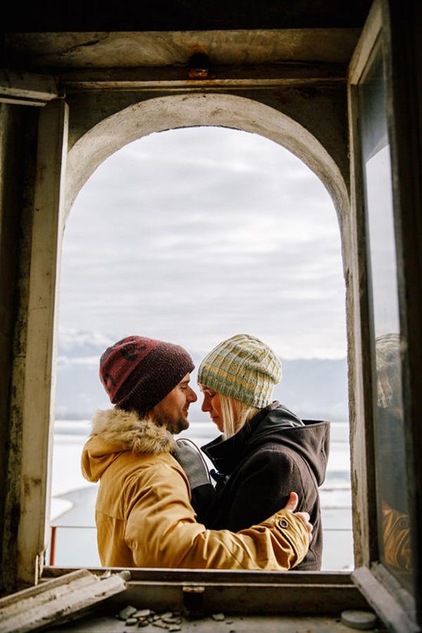 Romantic Winter Engagement
