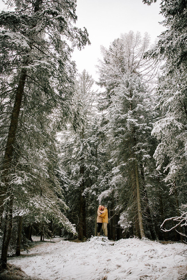 Engagement Photos With Snow