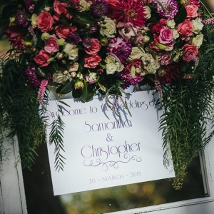 Floral Decorated Welcome Sign