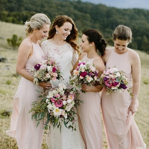 Bridesmaids In Pale Pink