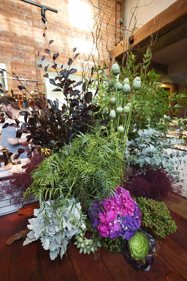 Purple And Green Floral Arrangement