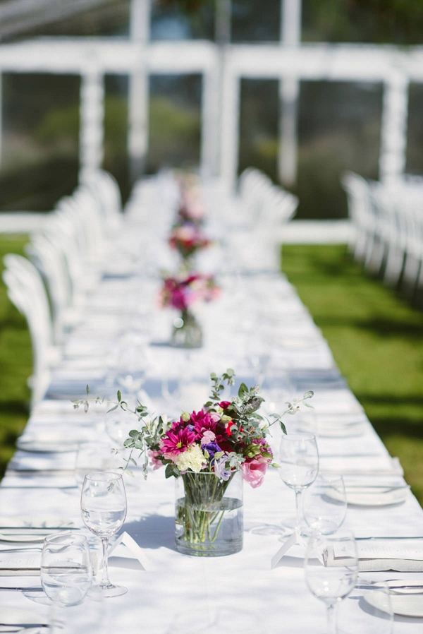 Long Tables With White Chairs