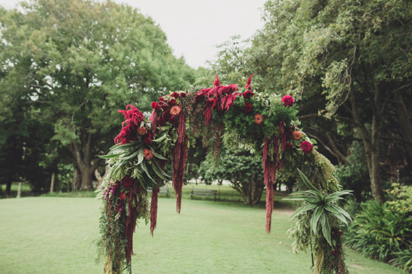 Red Floral Arch