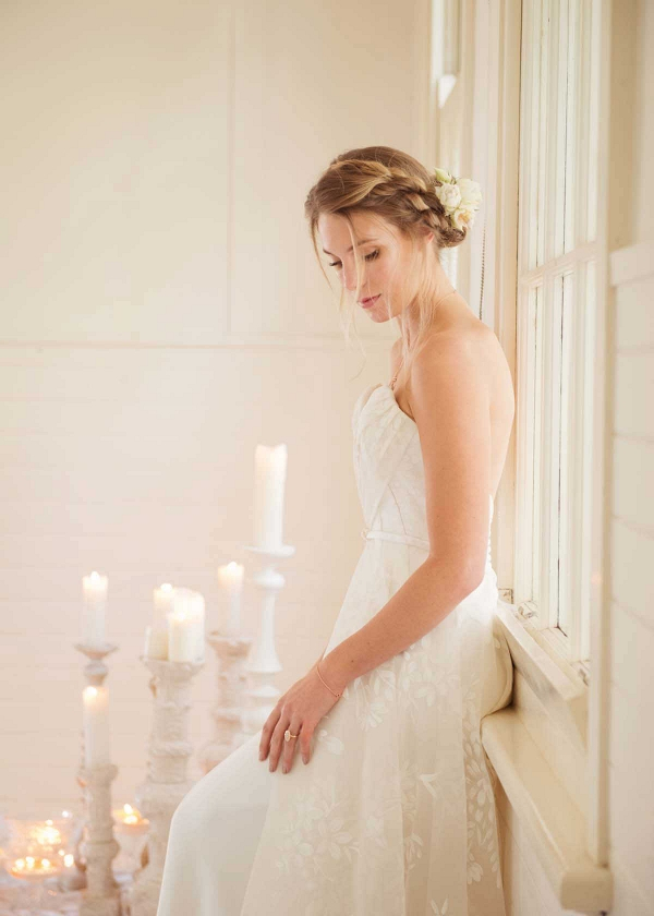 Bride With Braided Hairstyle