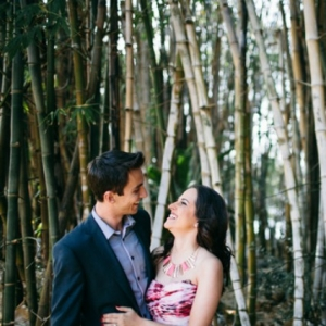 Bamboo Engagement Photo