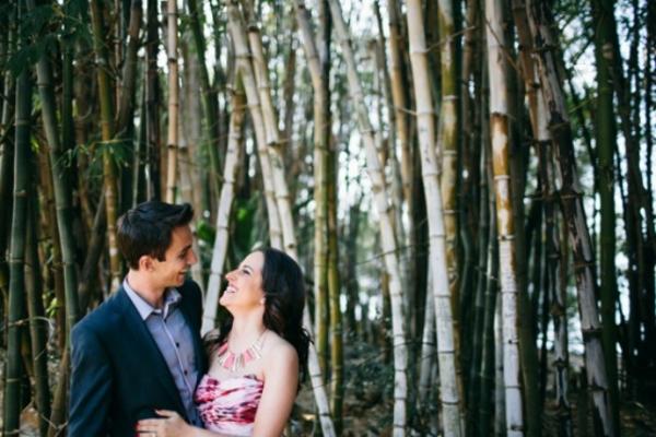 Bamboo Engagement Photo