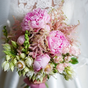 Rose Quartz Wedding Bouquet