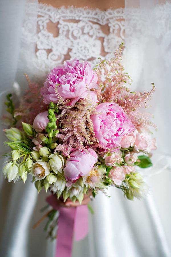 Rose Quartz Wedding Bouquet