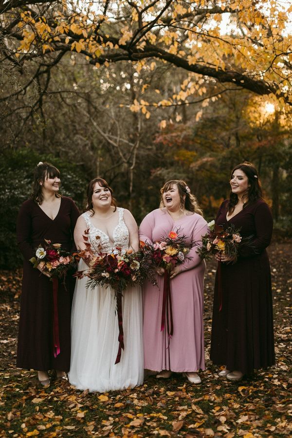 Long sleeve bridesmaid dresses