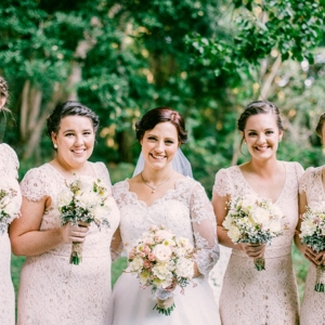 Bride & Bridesmaids In Pale Pink