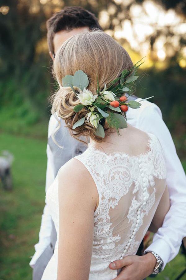 Eucalyptus Hair Flowers