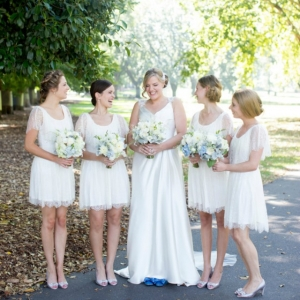 Bride & Bridesmaids In White