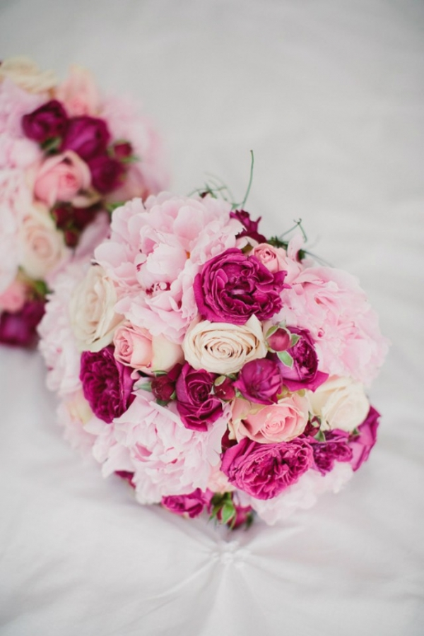 Peony And Rose Wedding Bouquet