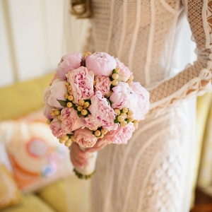 Wedding Bouquet Of Pink Peonies
