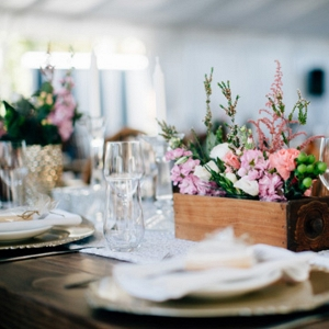 Tablescape With Wooden Boxes