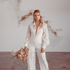 Lace bridal jumpsuit