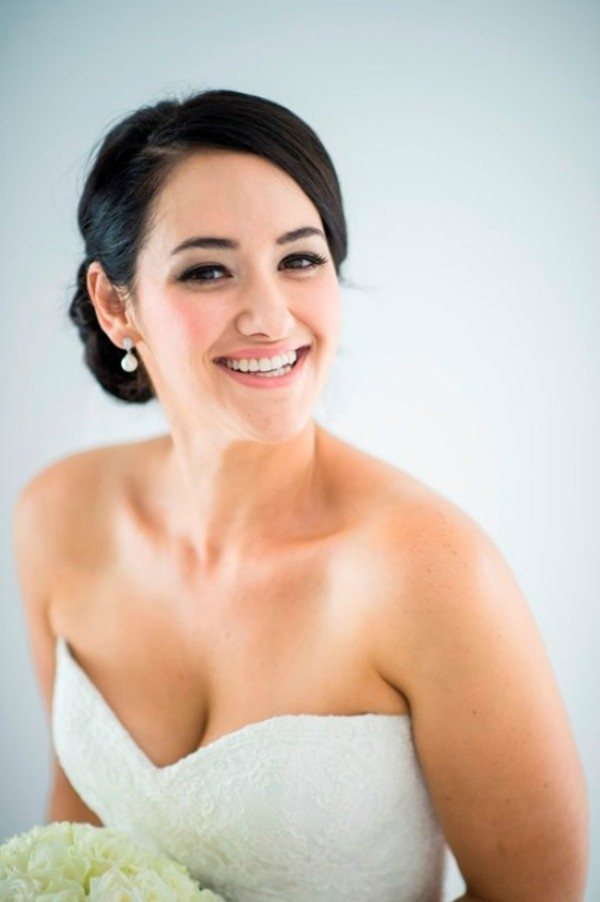 Bride with Swept Updo