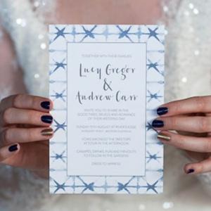 Shibori Wedding Invitation