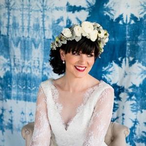 Bride With Shibori Backdrop