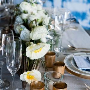 Shibori Inspired Wedding Tablescape
