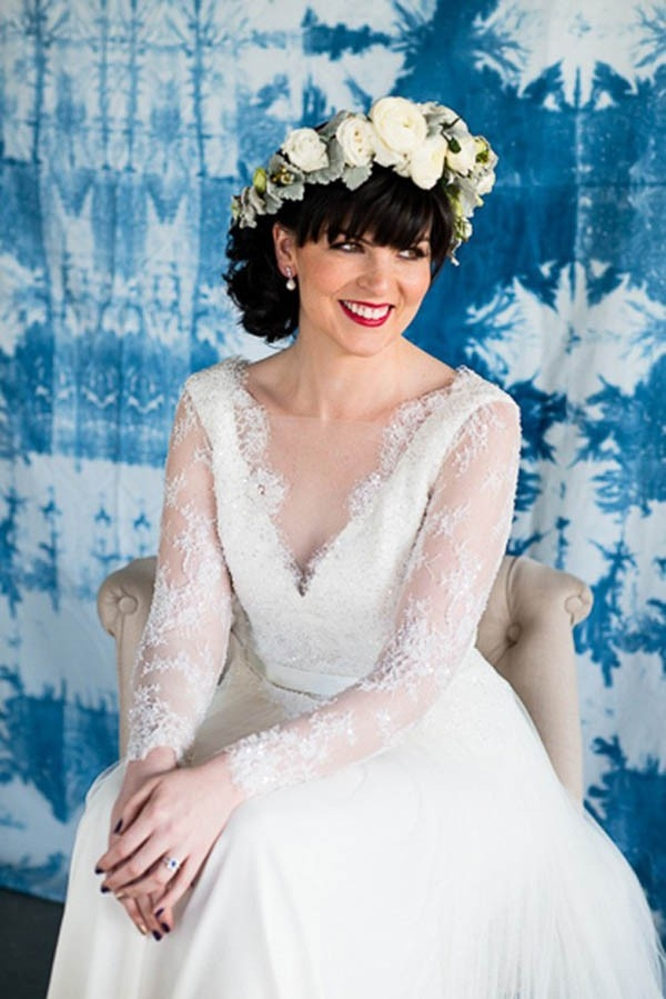 Bride With Shibori Backdrop