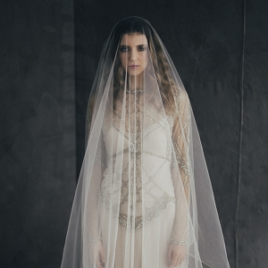 Bride With Stunning Drop Veil