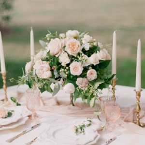Blush Wedding Table Centerpieces