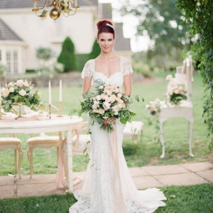 Bride At Outdoor Wedding Reception