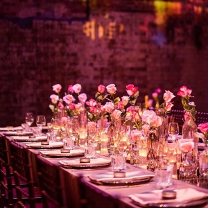 Long Table With Bud Vases