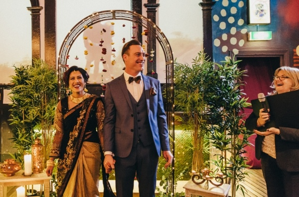 Multicultural wedding ceremony