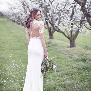 Sheer Backed Wedding Dress