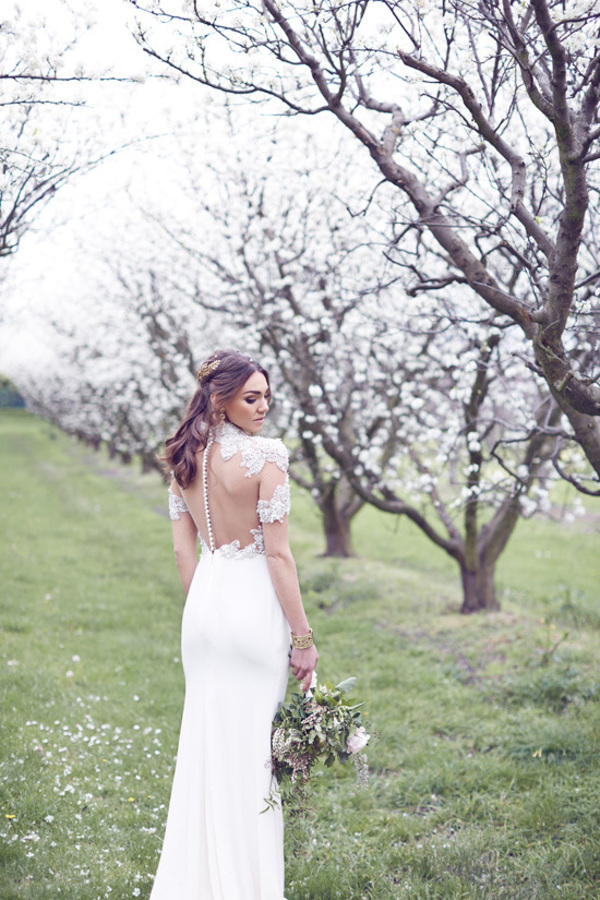 Sheer Backed Wedding Dress