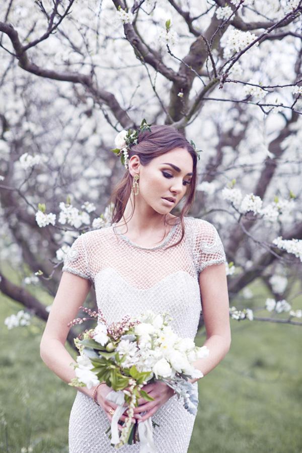 Silver Mesh Wedding Gown