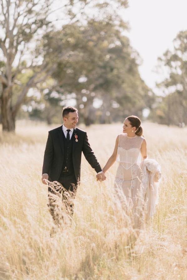 Bride and Groom  At Dunkeld Wedding