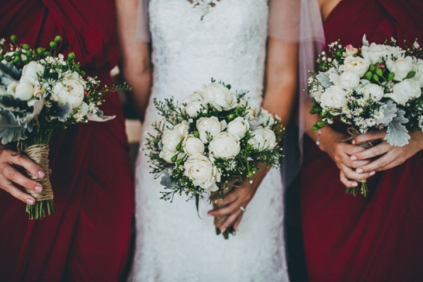 Wedding Bouquets With White Roses