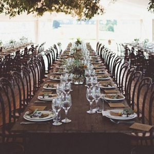 Long Wooden Wedding Table