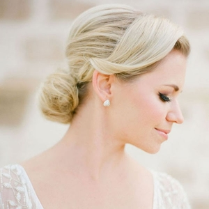 A Soft Bridal Updo