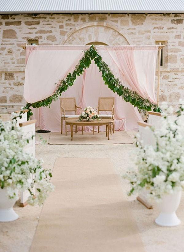 Pale Pink Ceremony Inspiration