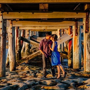 Pier Engagement Photo