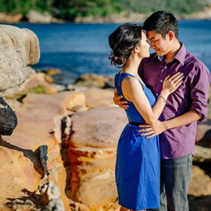 Sunset Island Engagement Shoot