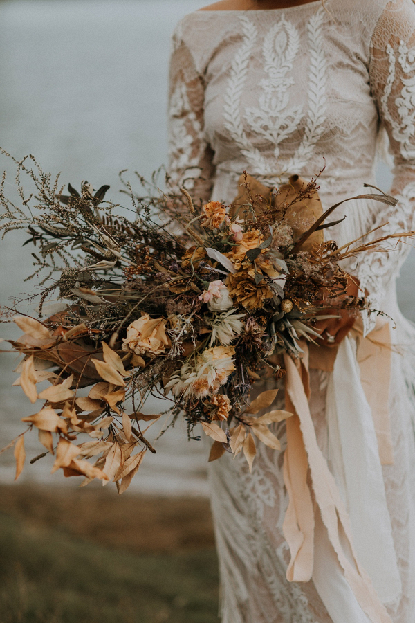 Dried wild flower bouquet