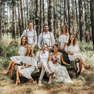 Rustic boho wedding party