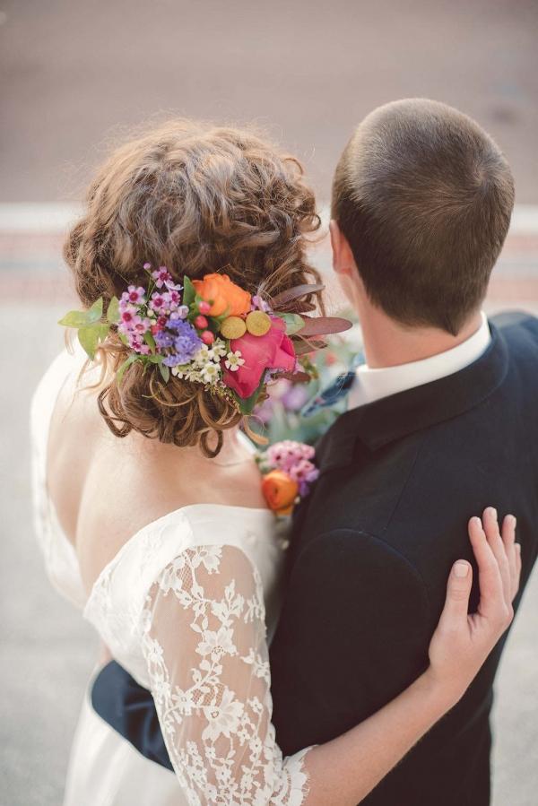 Bright Wedding Hair Flowers