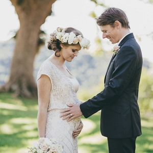 Pregnant Bride & Groom
