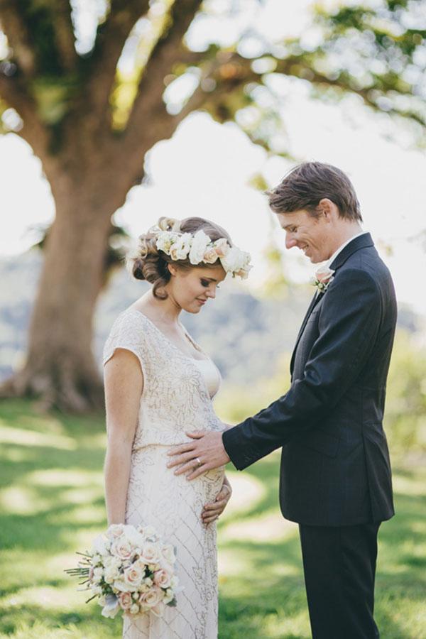 Pregnant Bride & Groom