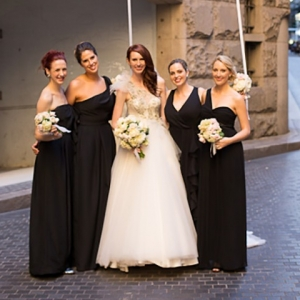 Bride With Bridesmaids & Balloons