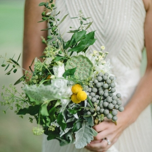 Wedding Bouquet Of Silver Brunia
